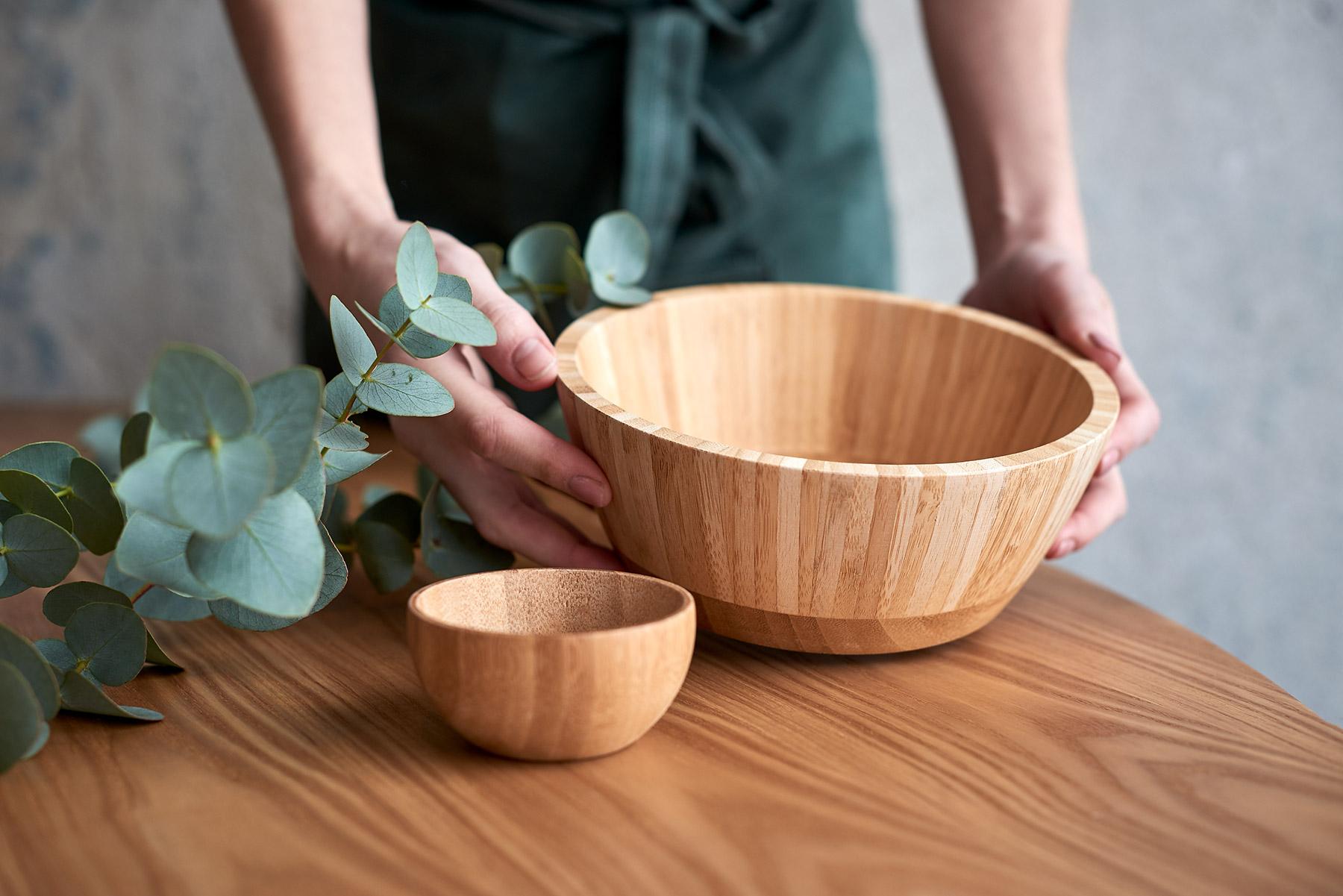 Bambusové misky