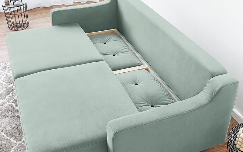 Ukázka pohovky s úložným prostorem